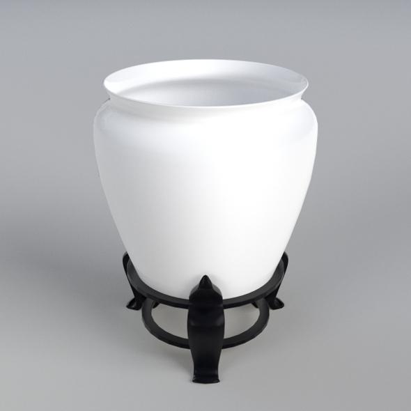 Vase on a holder - 3DOcean Item for Sale
