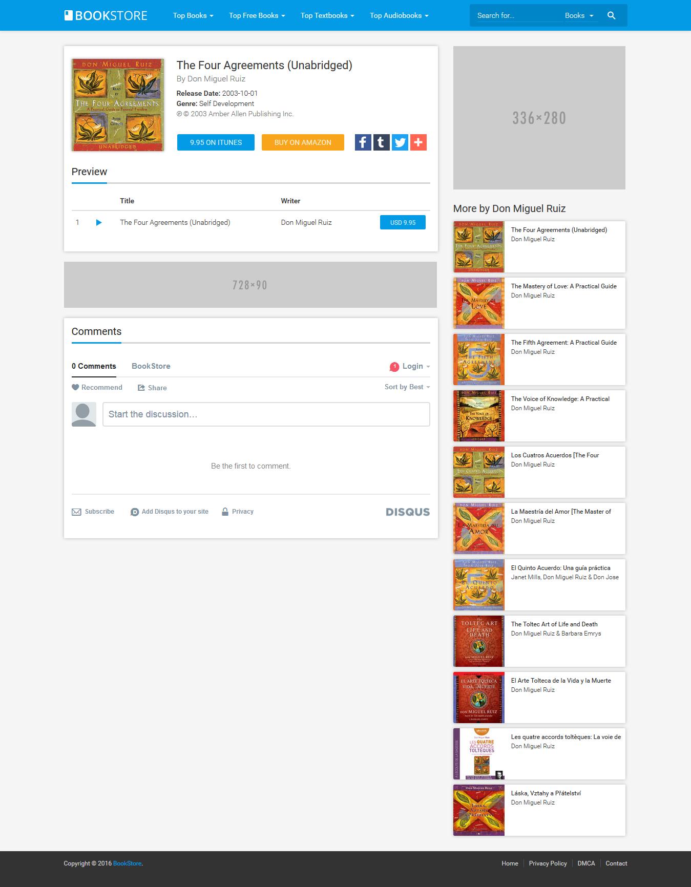 BookStore - Books, eBooks and Audiobooks Affiliate Script Preview ... Audiobooks