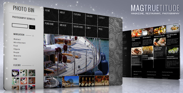 MagTruetitude Restaurant and  WP Food Magazine - theme preview