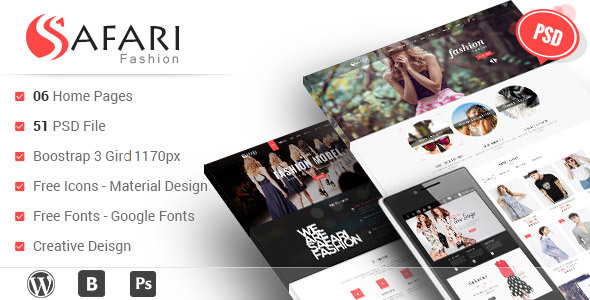 Safari - Multipurpose PSD Template