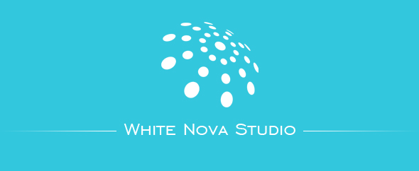 White nova studio banner