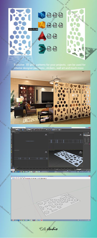 Hexa (3D screen) PD_G23 - 3DOcean Item for Sale
