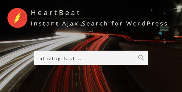HeartBeat - Instant Ajax Search for WordPress