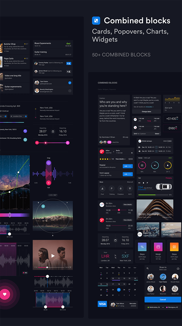 Pin UI Kit - Huge Set of UI Components