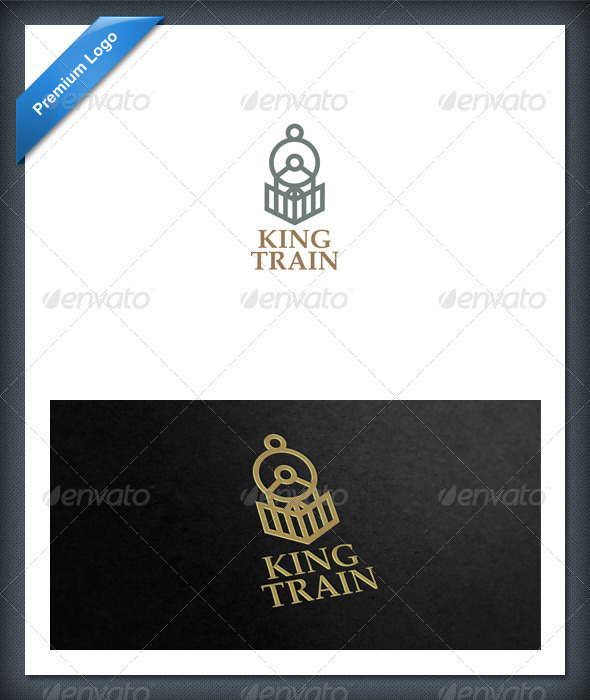 Train and Locomotive Logo Template