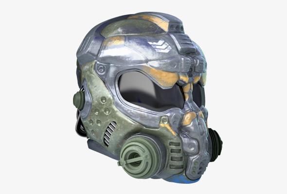 Space marine helmet - 3DOcean Item for Sale