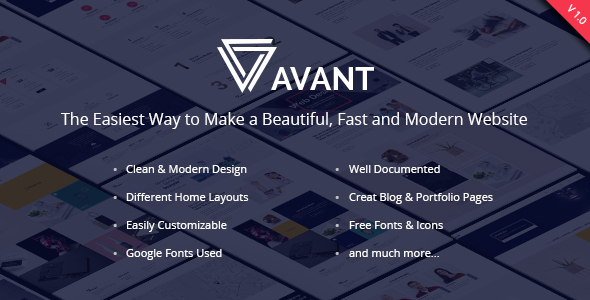 Avant - Creative & Multipurpose