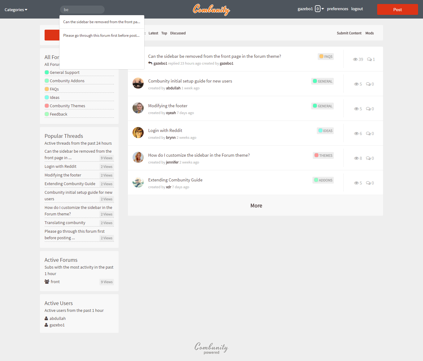 Combunity forums simple modern powerful forums for for Minimalist living forum