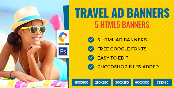 Travel Ads Banner HTML5 - GWD
