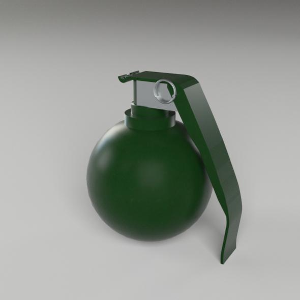 M67 Fragmentation Hand Grenade - 3DOcean Item for Sale