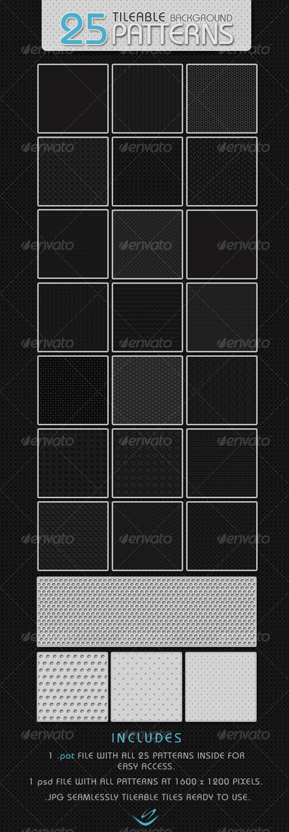 GraphicRiver 25 Tileable Background Patterns 67845
