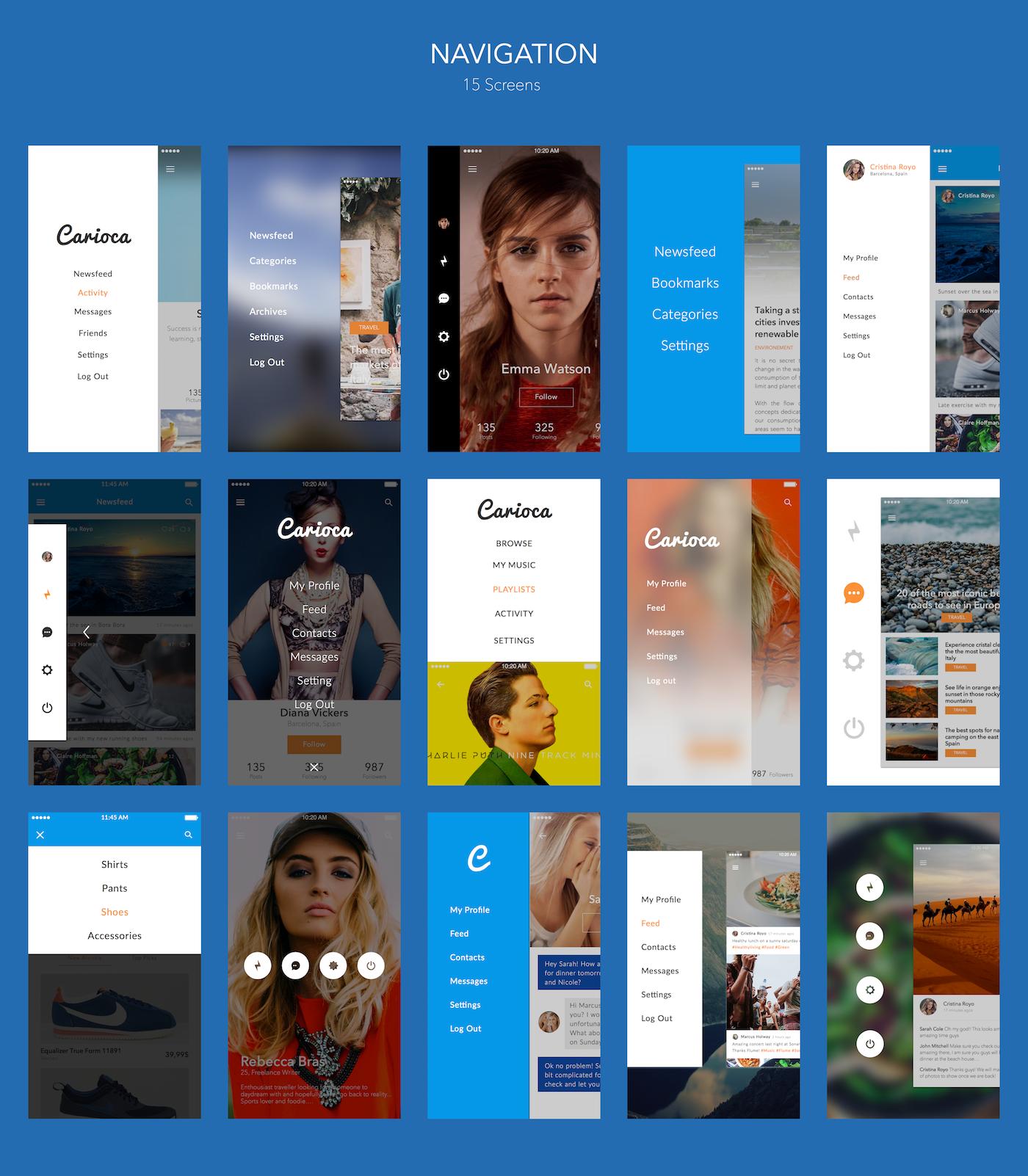 Carioca - Premium iOS UI Kit