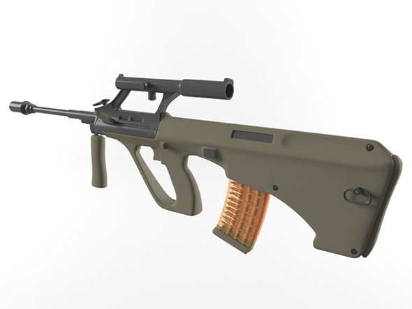 Steyr AUG bullpup assault rifle - 3DOcean Item for Sale