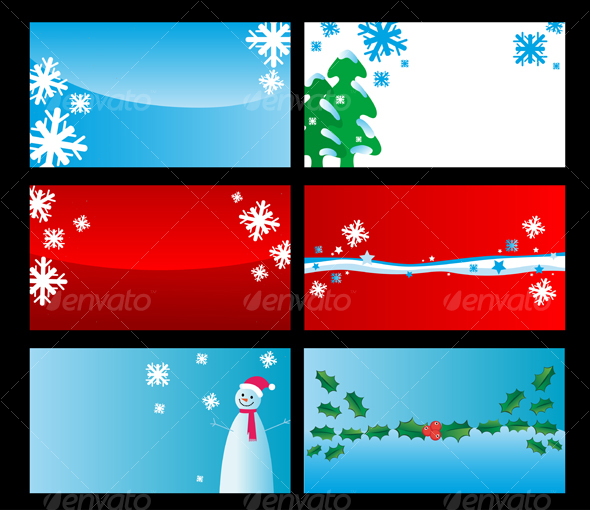 Set of christmas cards - Seasons/Holidays Conceptual