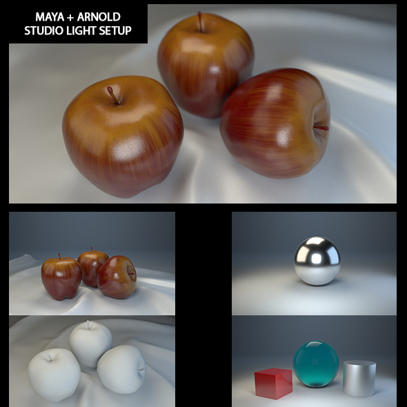 3DOcean STUDIO LIGHT SETUP MAYA ARNOLD RENDER 17519590