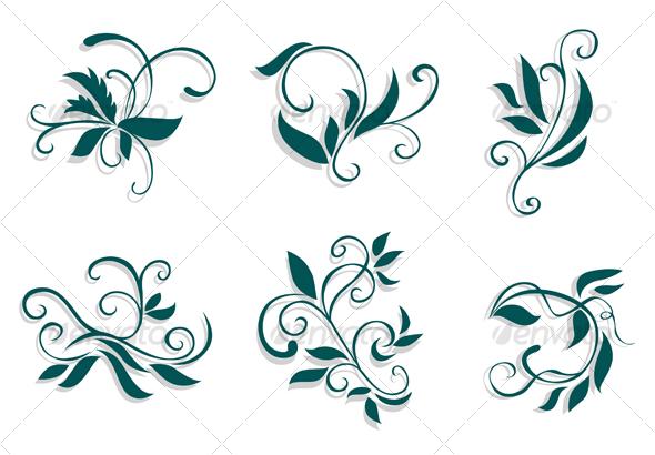GraphicRiver Floral decorations 67853
