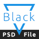 Black Bold One Page PSD Template