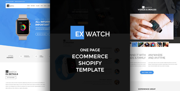 Ex Watch - Single Product eCommerce Shopify Theme