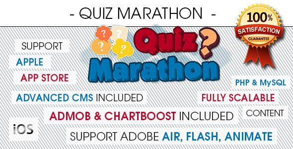 Quiz Marathon Trivia With CMS - iOS - CodeCanyon Item for Sale