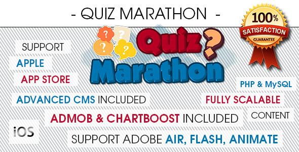 Quiz Marathon Trivia With CMS - iOS