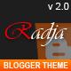 Radja - Responsive Blogger Template