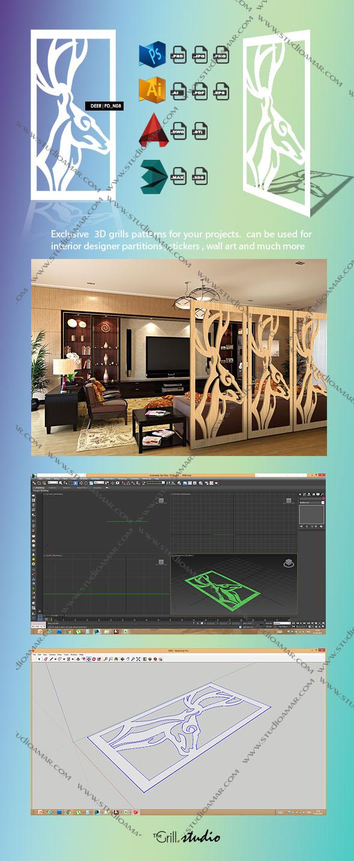 Deer (3d screens) PD_N08 - 3DOcean Item for Sale