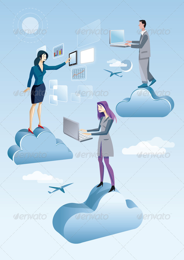 Cloud Computing Two Women And A Men