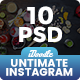 Untimate Instagram Banners Ad - 10 PSD