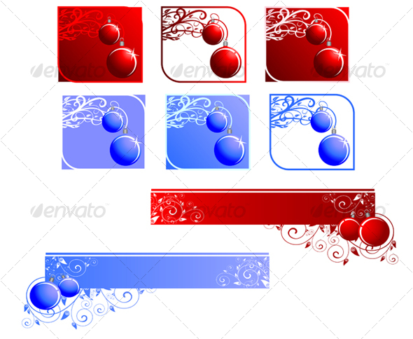 Christmas decorations and banners - Seasons/Holidays Conceptual