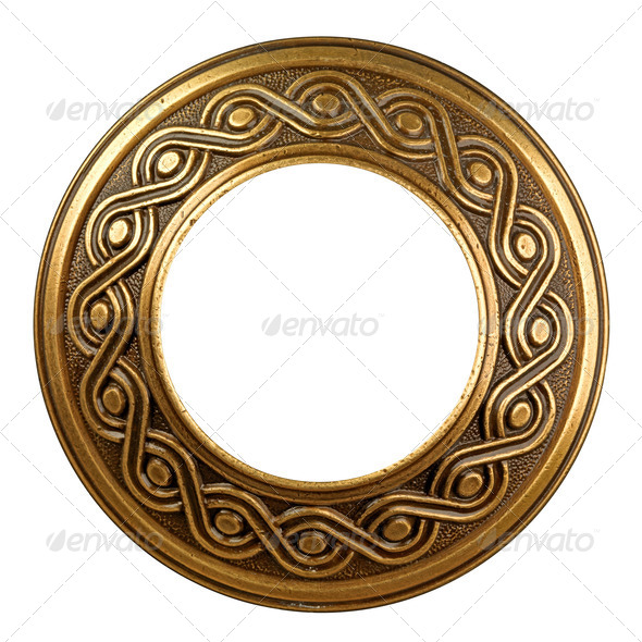 Vintage gold ornate frame - Stock Photo - Images