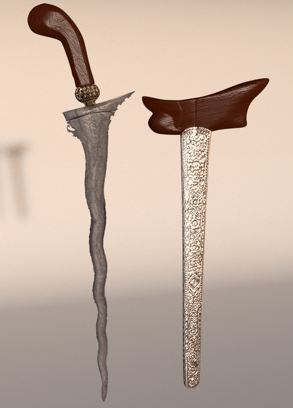 Traditional Javanese Blade 'KERIS' - 3DOcean Item for Sale
