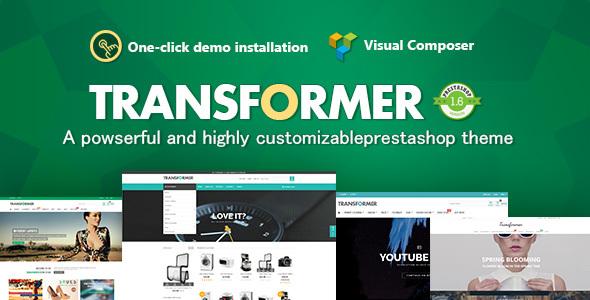 00 preview.  large preview - Transformer Responsive Prestashop Theme