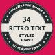 Retro Text Styles Bundle - 34 Styles