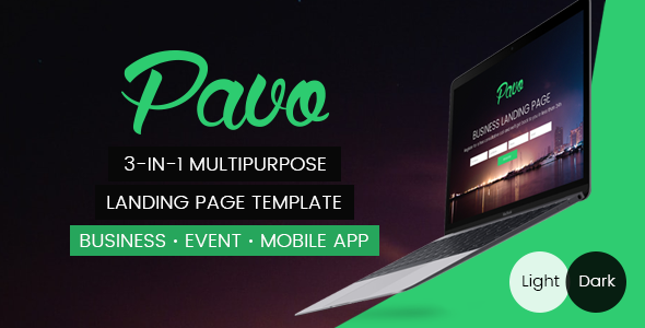 Pavo - Multipurpose Landing Page Template