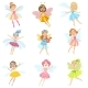 Fairies in Dresses Girly Cartoon