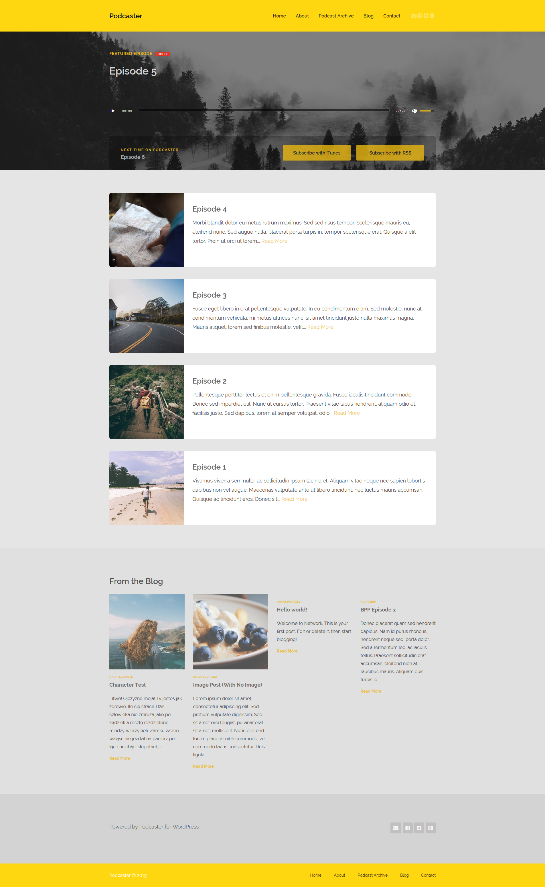 Podcaster multimedia wordpress theme download bootstrap : 2018