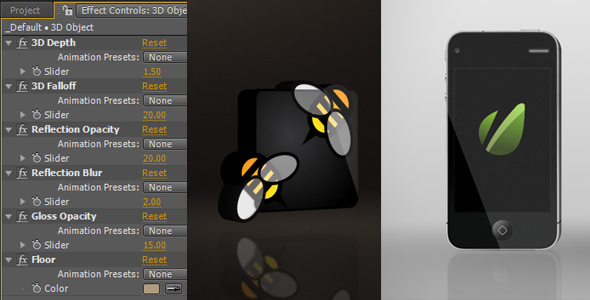 Videohive Aftereffects Project Black Gloss Logo Hd
