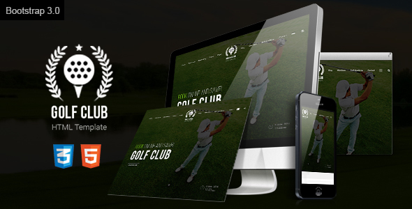 Golf Course Responsive Website Template