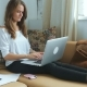 Stressed Woman Using Laptop Than Closed It