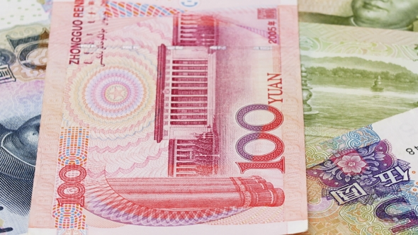 Download Yuan Bank Notes Rotating Business Background, Loop Ready nulled download