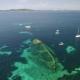 Aerial View Of The Sunken Ship Near The Island Dugi Otok