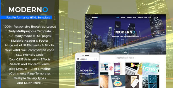 Moderno - Multipurpose Fast Performance HTML Template