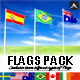 Realistic Worldwide Flag Pack