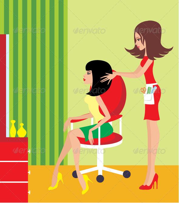 GraphicRiver Woman in a beauty salon 1744533