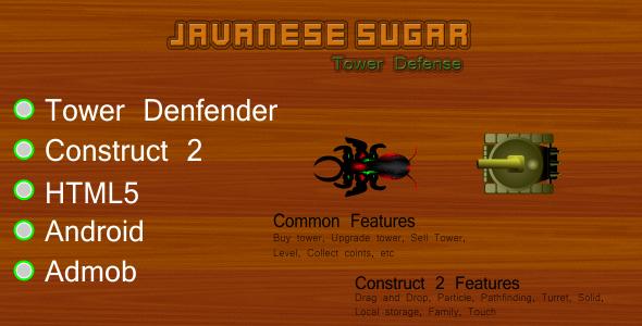 Codecanyon Javanese Sugar Tower Defense 17533207