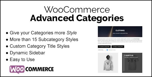 WooCommerce Advanced Categories