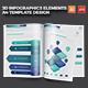 3D Infographics Elements A4 Template Design