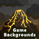 4 Mountain Pixel Game Backgrounds - Parallax and Stackable