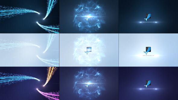 Energy Particles Streak Logo Reveal (Abstract) After Effects