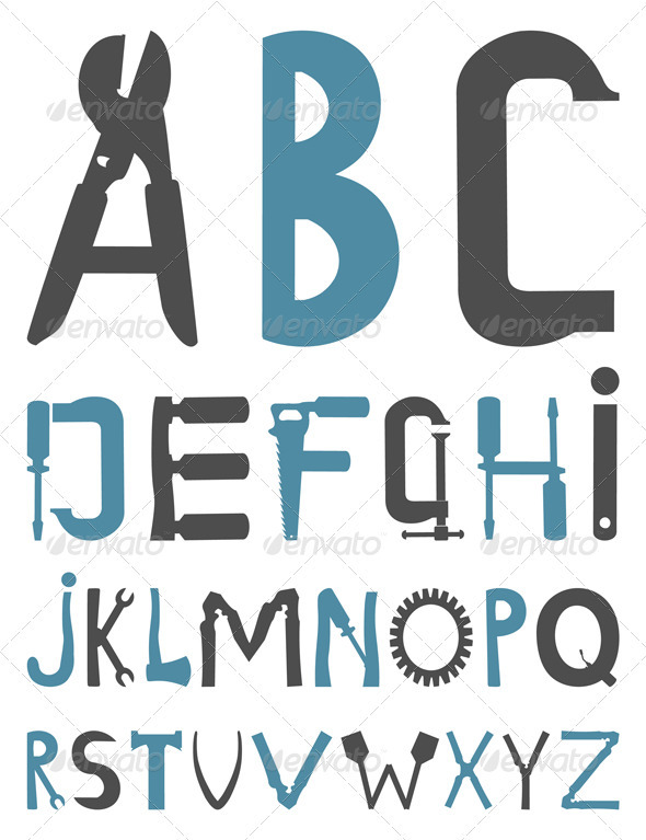 Alphabet - Miscellaneous Vectors